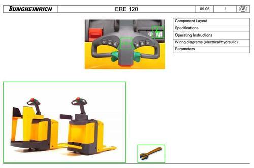 Jungheinrich Electric stacker Type ERE 120 (092005-042008) Worksh