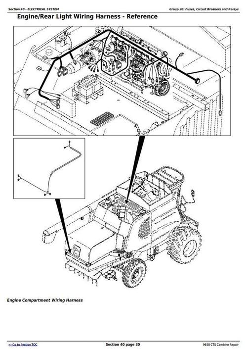 Deer 9650CTS Combine (SN before 695400, 700401-705400) Service Re