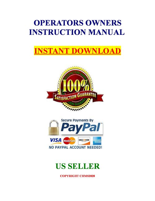 Hi-Point C9 9MM CF 380 ACP pistol owners parts manual - Download M