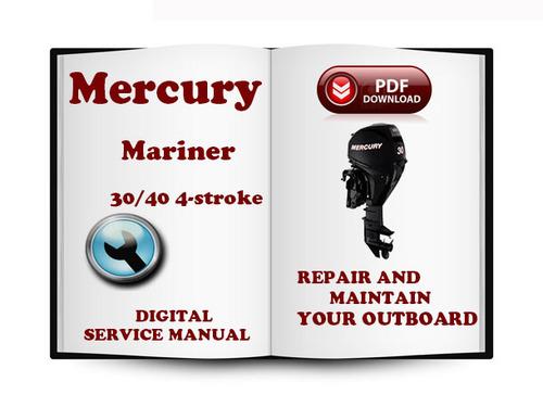 mercury mariner outboard 225 efi 4 stroke service repair manual download