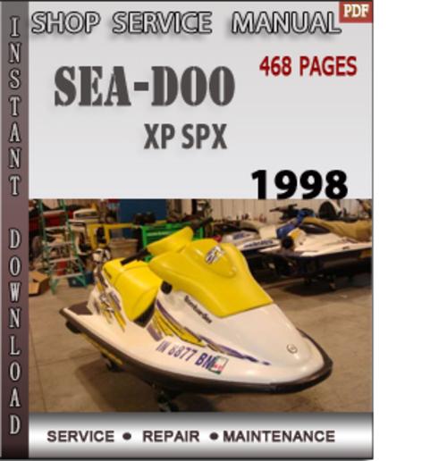 Seadoo XP SPX 1998 Shop Service Repair Manual Download - Download M
