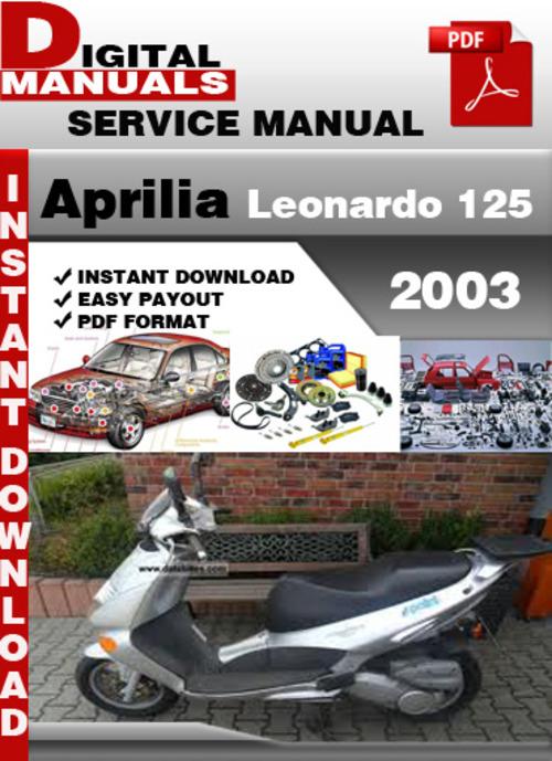 Aprilia Leonardo 125 2003 Factory Service Repair Manual - Download