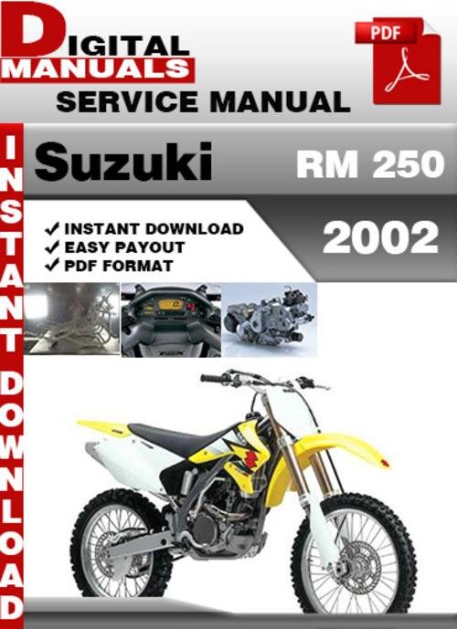 Suzuki RM 250 2002 Factory Service Repair Manual Pdf - Download Man