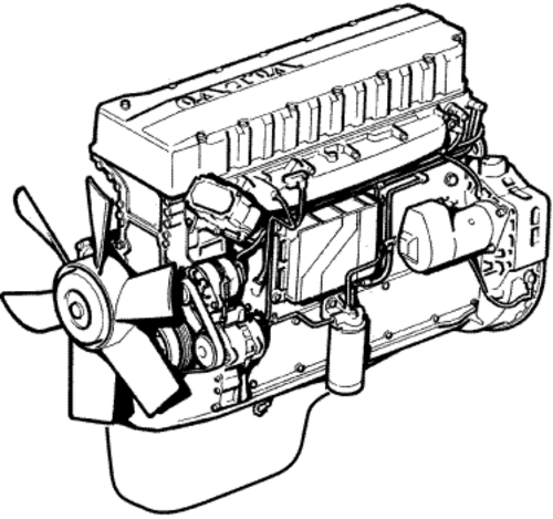 volvo d12 Motor diagram
