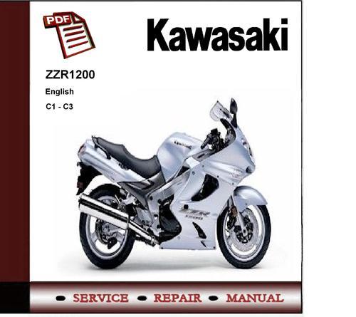 kawasaki zzr1200 c1 c3 service repair manual instant download