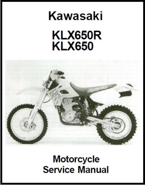 Kawasaki KLX650 - KLX650R Motorcycle Service Manual - Download Manu