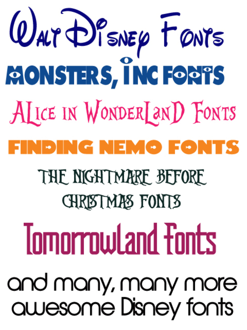 Ultimate Disney Font Package - Over 25 Disney Fonts - GET NOW! - Do