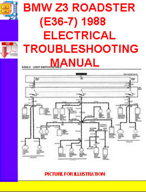 BMW Z3 ROADSTER (E36-7) 1998 ELECTRICAL TROUBLESHOOTING MANU - Down