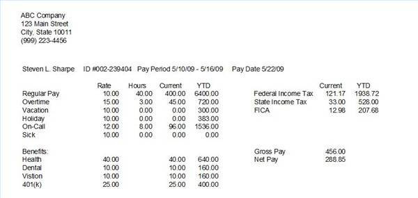 Paycheck Stub Template  Calculator - Download Business - net pay calculator