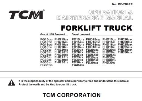 TCM FG,FHG,FD,FHD,15-30 operation manual - Download Manuals \ T - operation manual