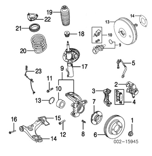 audi engine parts list