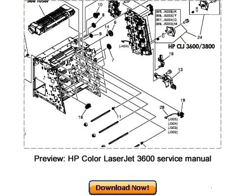 hp color laserjet 3600n diagram