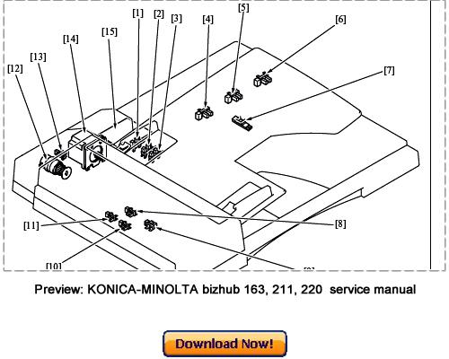 konica minolta bizhub c35p service repair manual download