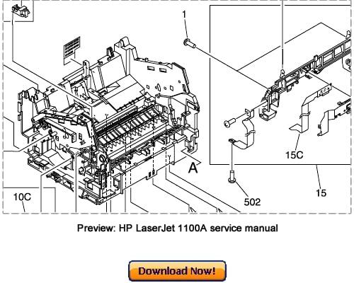 hp laserjet 1100a service manual