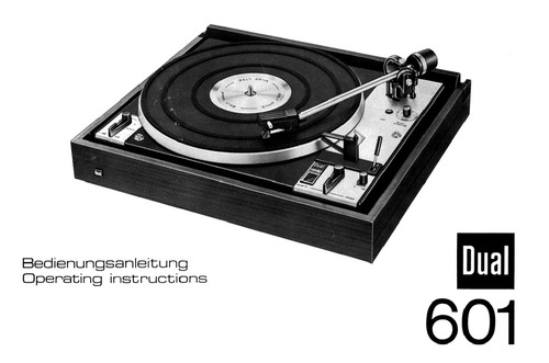 dual 601 turntable owner service manual
