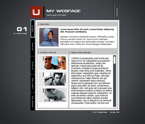 Male Personal Profile Flash Website Template - Download Templates / - profile templates