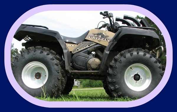 YAMAHA GRIZZLY 600 ATV 98 99 2000 2001 REPAIR SERVICE MANUAL - Down