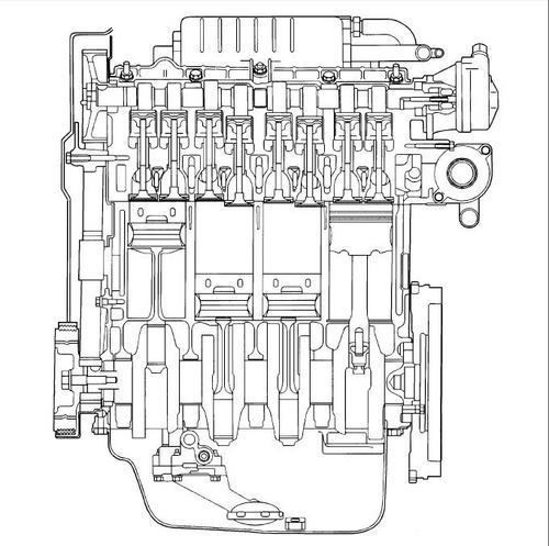 2000 mitsubishi engine diagram
