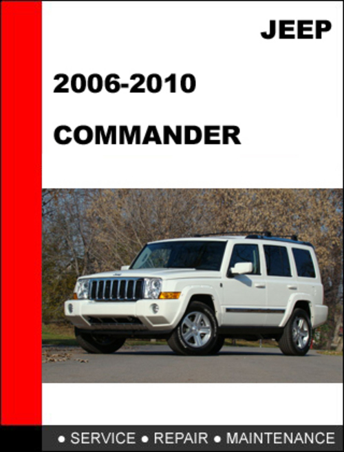 2006 jeep commander factory service manual download