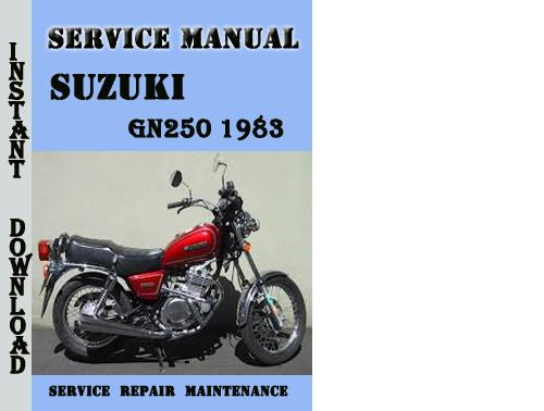 Suzuki GN250 1983 Service Repair Manual Pdf Download - Download Man