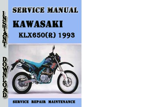 Kawasaki KLX650(R) 1993 Service Repair Manual Pdf Download - Downlo