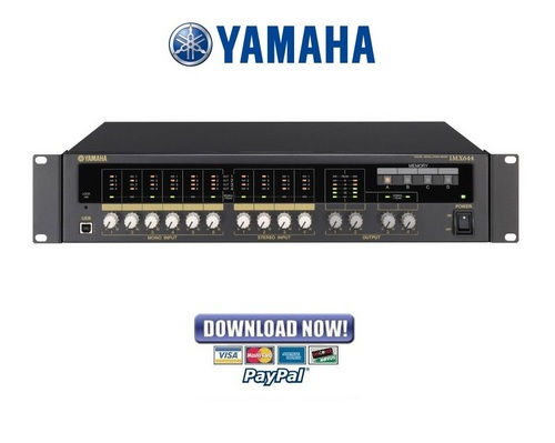 yamaha mixer boards manuals