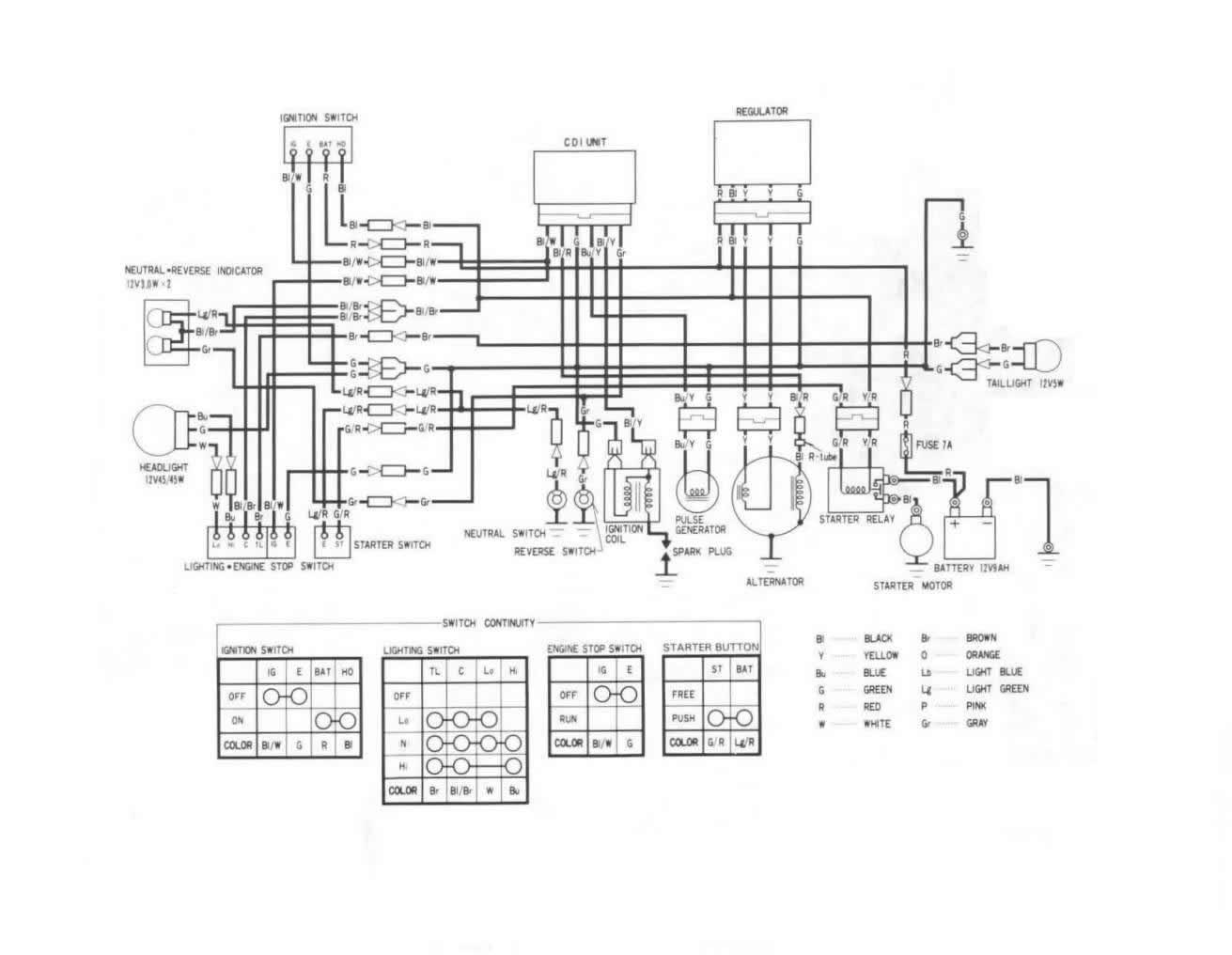 2007 honda 250ex wiring diagram