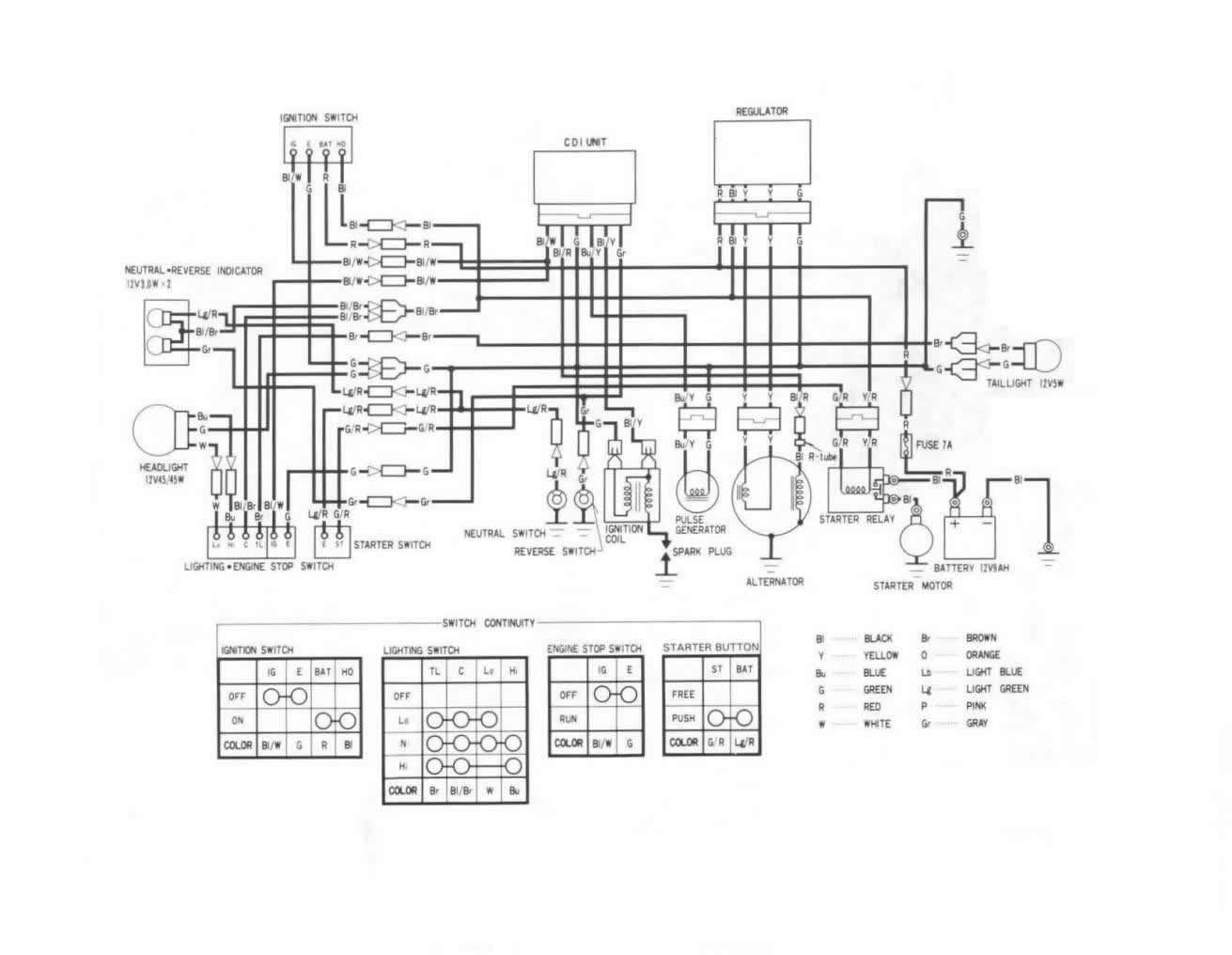 trx 350 wiring diagram 2000