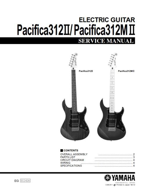 Yamaha pacifica 312 312ii 312mii 312-mii service manual full - Down