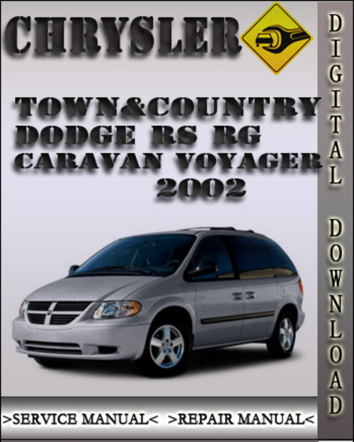 chrysler town and country caravan 2002 service manual