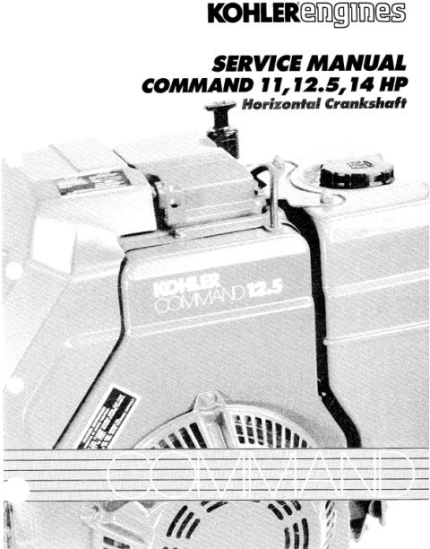 KOHLER Command 11 125 14 HP Service Repair Manual Horizontal Crank