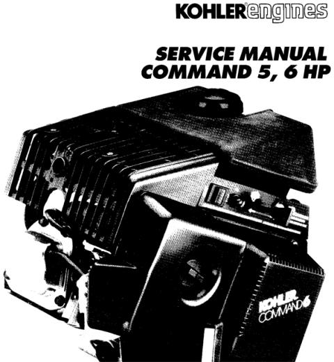 KOHLER Command 5 6 hp 5hp 6hp Service Repair Manual Command6 Comman