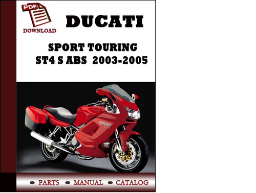 Ducati Sport touring ST4 S ABS parts manual (catalogue) 2003 2004 2