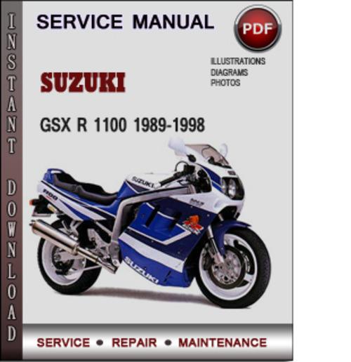 Suzuki GSX R 1100 1989-1998 Factory Service Repair Manual Download