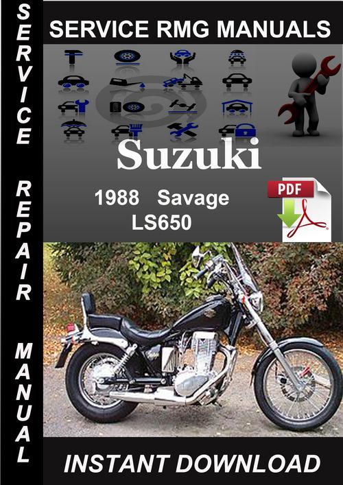 1988 Suzuki Savage LS650 Service Repair Manual Download - Download