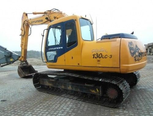 hyundai r130lc 3 crawler excavator service repair workshop manual download
