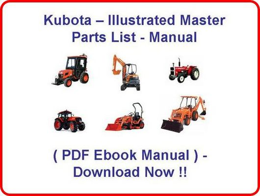 B4200D KUBOTA TRACTOR PARTS MANUAL - ILLUSTRATED MASTER PARTS LIST