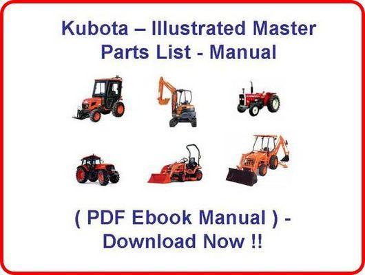 KUBOTA TRACTOR B3030 HSD PARTS MANUAL - ILLUSTRATED MASTER PARTS LI