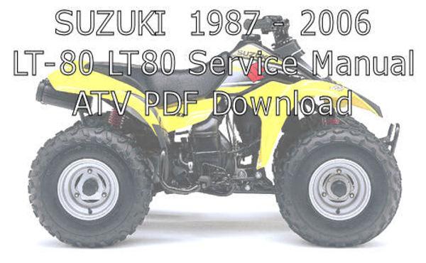 suzuki lt80 digital workshop repair manual 1987 2006