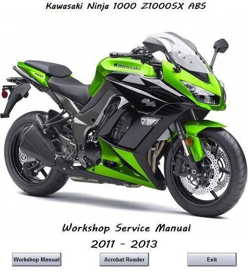 Kawasaki Ninja 1000 Z1000SX 2011 - 2013 Workshop Manual - Download