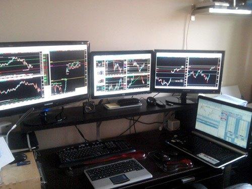 forex trader trading desk