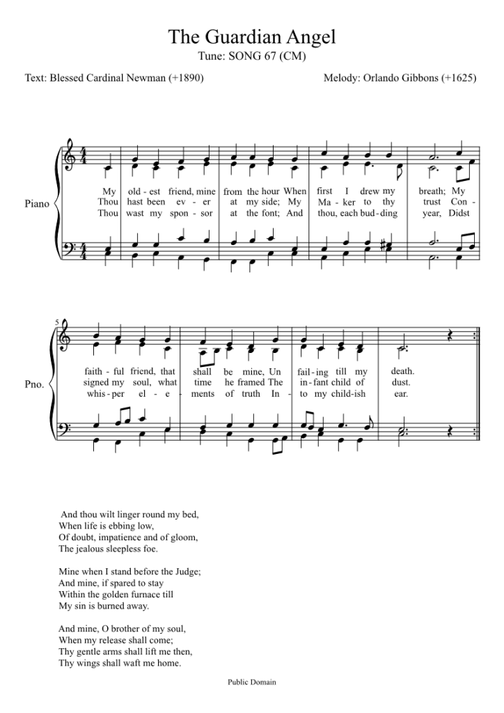 The Guardian Angel Hymn - Traditional Catholic Living