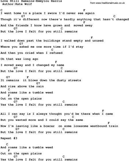 Still Remains Lyrics