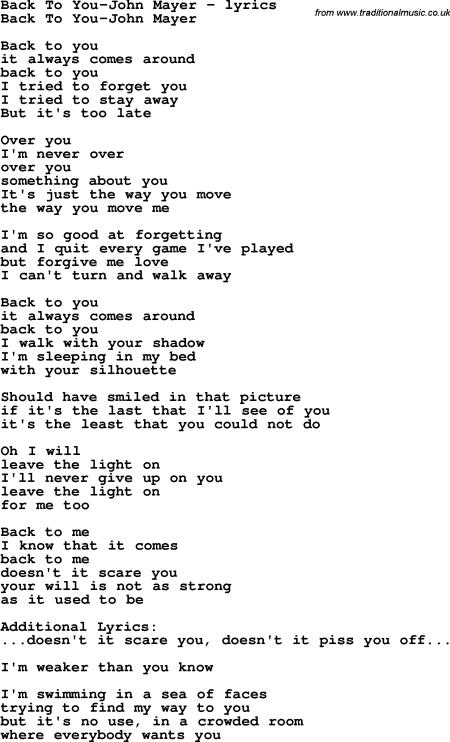 Graffiti Lyrics John Mayer