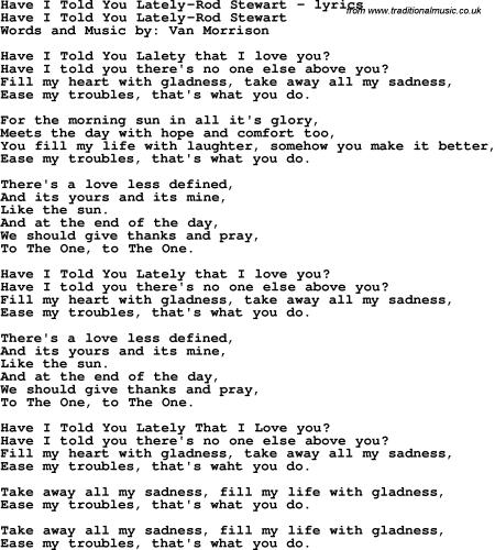 Lately Song Lyrics