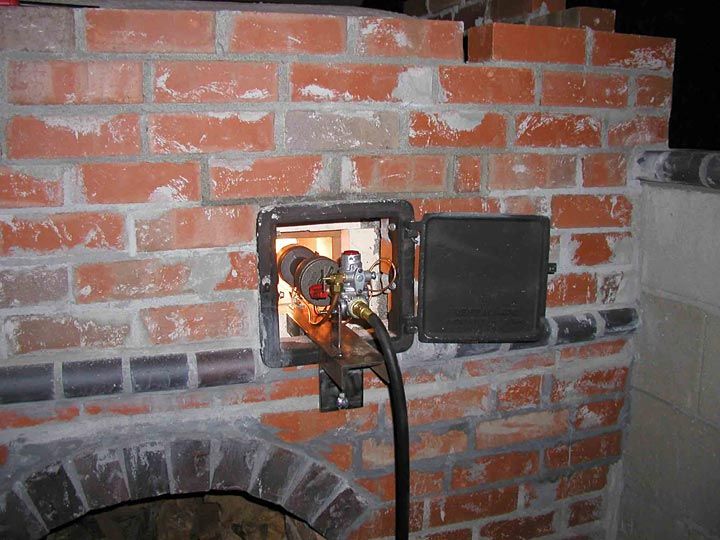 Gas And Wood Brick Pizza Oven