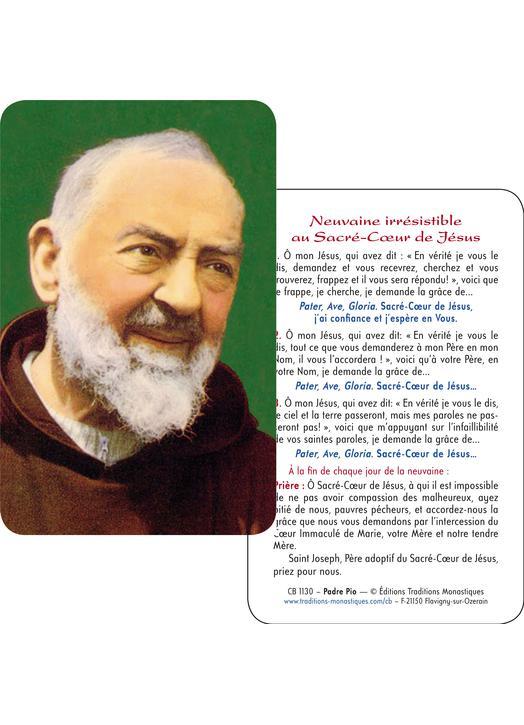 Religious shop  Card-prayer of Padre Pio (CB1130)