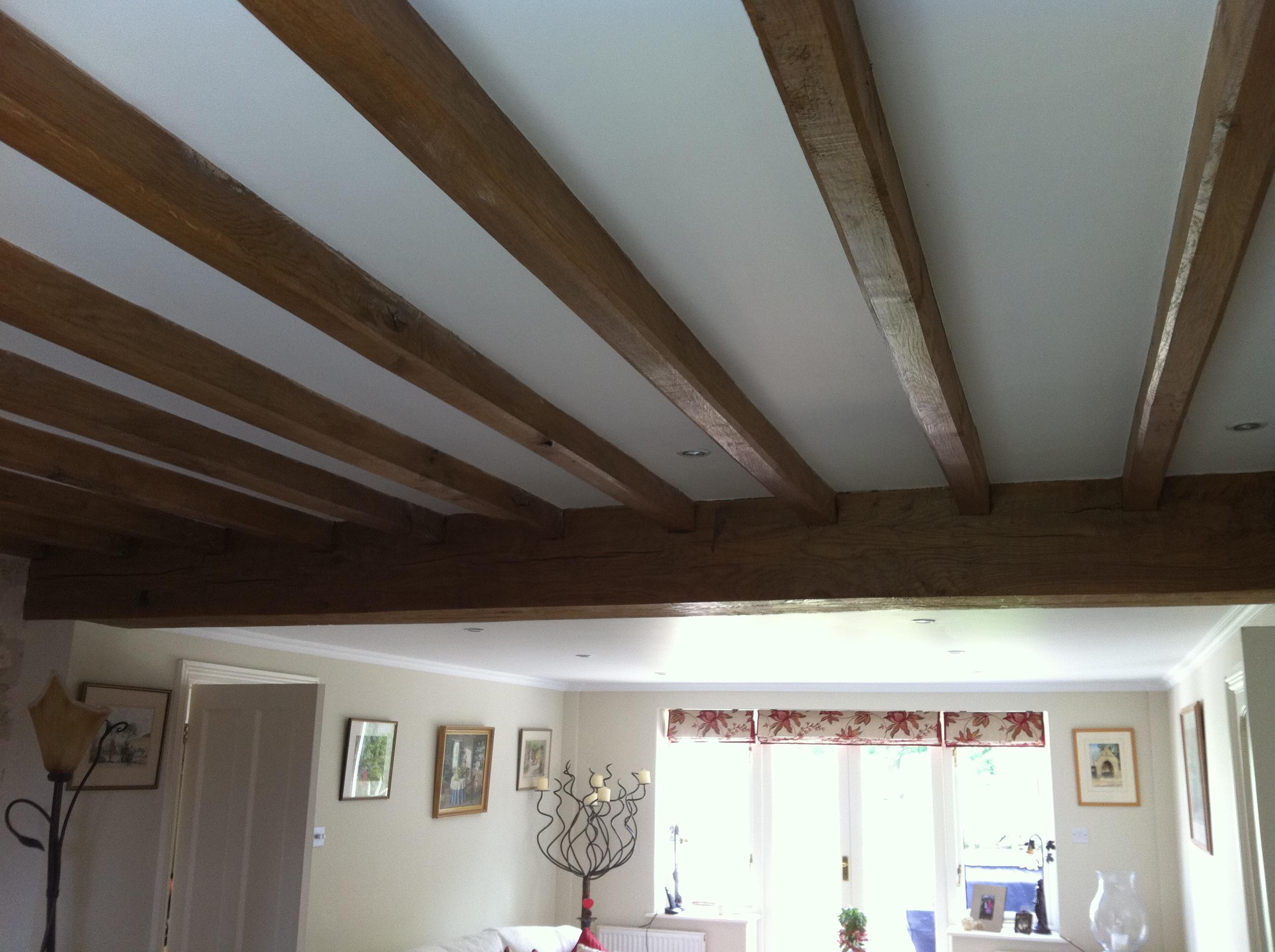 Air Dried Oak Ceiling Beams