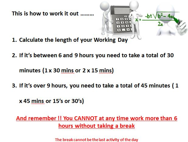 Breaks and the Working Time Directive - Template 05