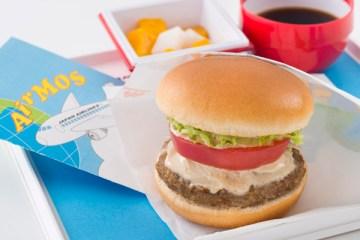 JAL国際線で「AIR モス 野菜バーガー」提供 モスバーガーとコラボは6回目